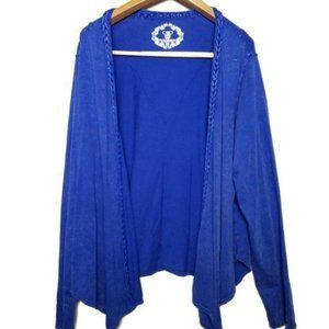 Cato open front royal blue cardigan